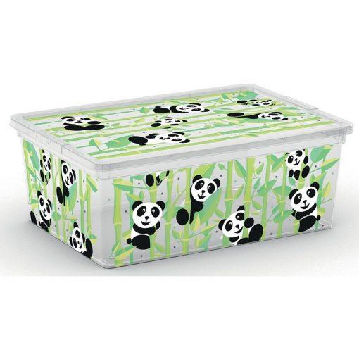 Műanyag tárolódoboz C box S 11l Cute animal pandás