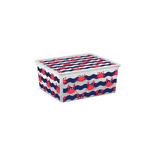 Műanyag tárolódoboz C box M Cute animal 18l rákos