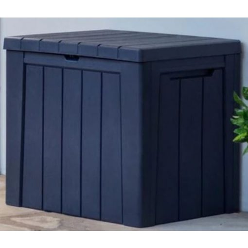 Műanyag URBAN kerti tároló doboz szürke színben 113 L