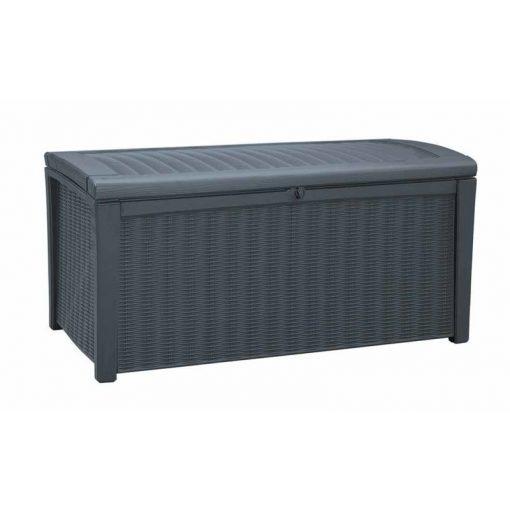 BORNEO műanyag kerti tároló 129,5x70x62,5 cm
