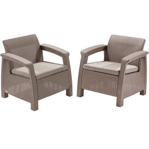 Corfu duo fotel szett (2db) 75x70x79 cm Cappuccino színű