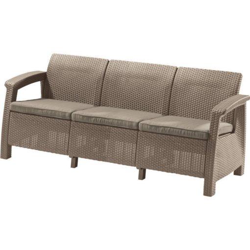 Corfu Love Seat Max 3 üléses kanapé 182x70x79 cm Cappuccino színű