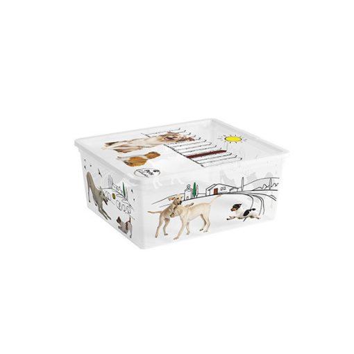 Műanyag tárolódoboz C box  M Pet 18l kutyás