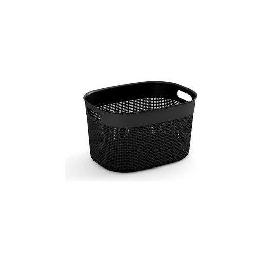 Filo S műanyag tárolókosár 6L fekete 22x27x15cm