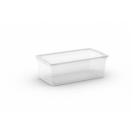 C Box XS műanyag tárolódoboz transzparens 6L 19x33,5x12 cm