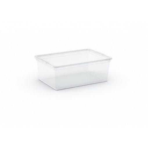 C Box S műanyag tárolódoboz transzparens 11L 37x26x14 cm