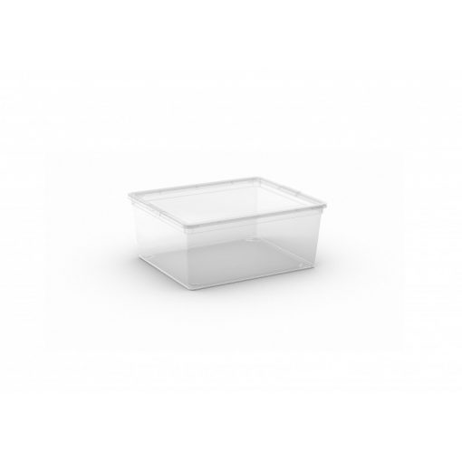 C Box M műanyag tárolódoboz transzparens 18L 40x34x17 cm