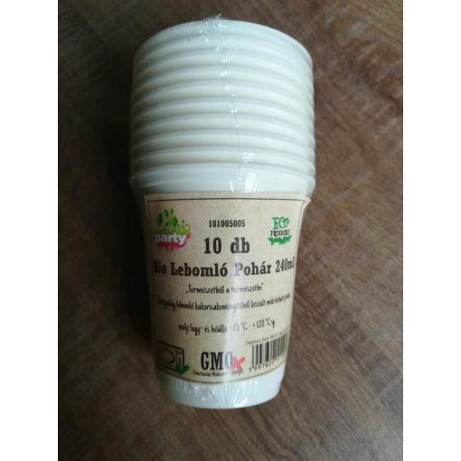 Party pohár kukoricából BIO lebomló 10db-os 1,6dl