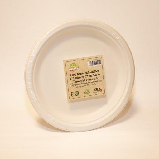 Party tányér kukoricából BIO lebomló 22,8 cm 5db-os