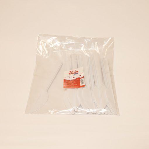 Party műanyag kés 10db-os fehér PRIMA többször használatos