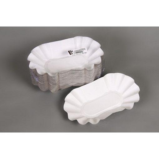 Party papír krumplistálca ovális 15dkg-os 100db-os 13,5x21x3,5cm