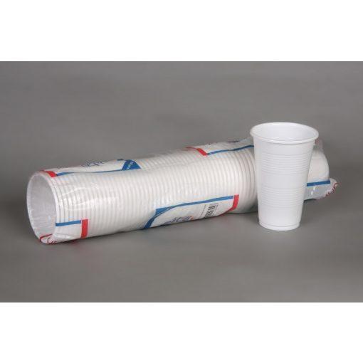 Party műanyag pohár 3dl 50db-os fehér PP