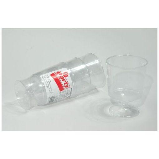 Party műanyag borospohár  2dl 10db-os PS
