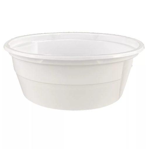 Party műanyag gulyástál 500ml 50db-os fehér tetőzhető