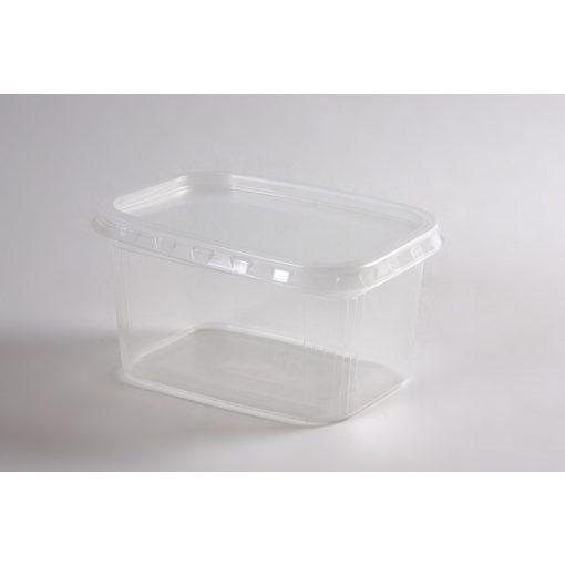 Party műanyag ételtartó doboz 750ml,   50db-os, mikrózható tetőzhető
