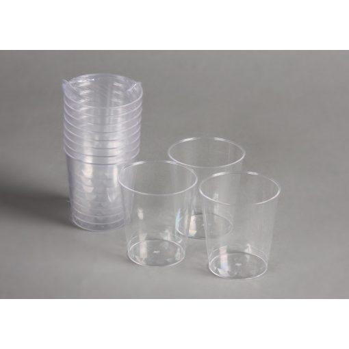 Party műanyag snapszos pohár 2-4cl 8db-os (talp nélküli) PS