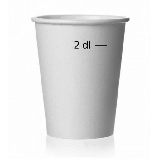 Papírpohár 2dl fehér 50db/cs