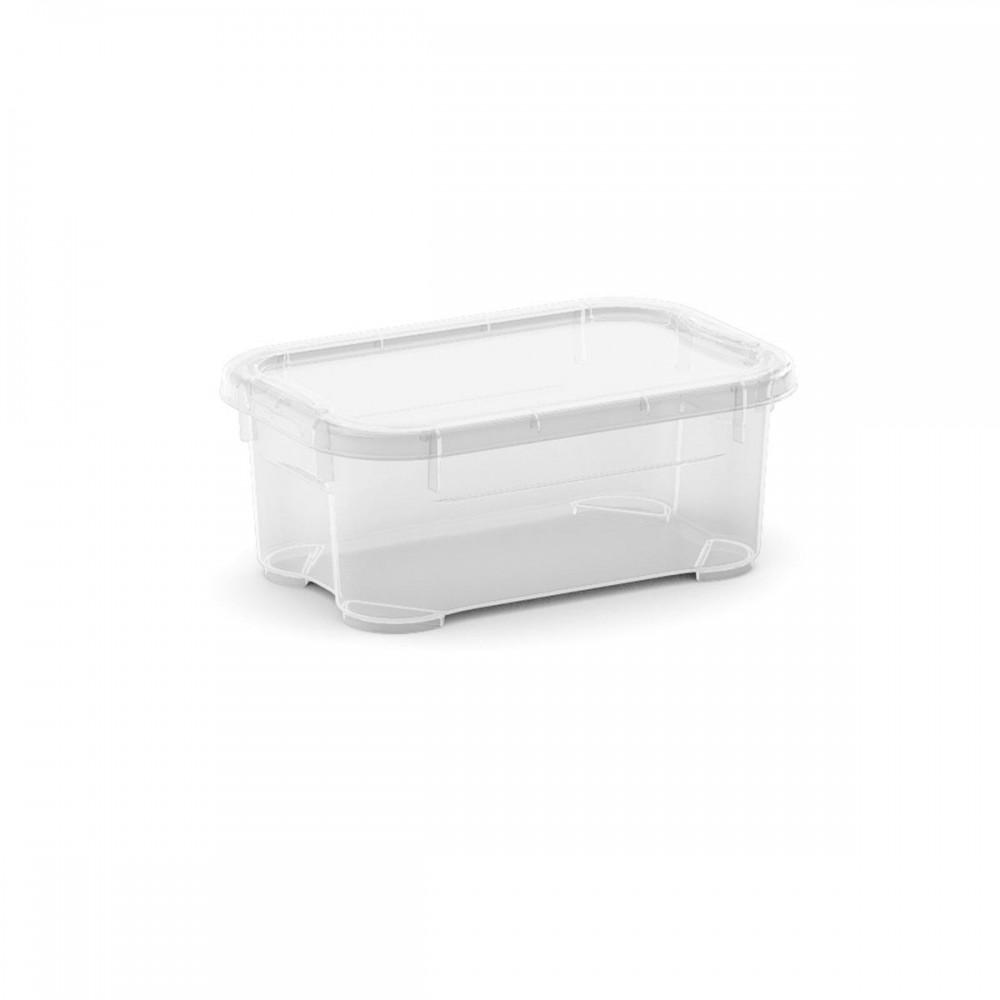 T Box Mini műanyag tárolódoboz transzparens 1l  17,5x11,5x7 cm