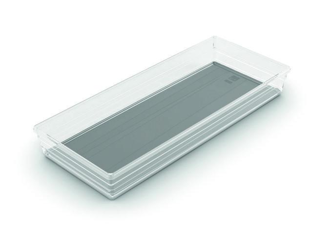 Sistemo 8 fiókrendező szürke 37,5x15x5cm