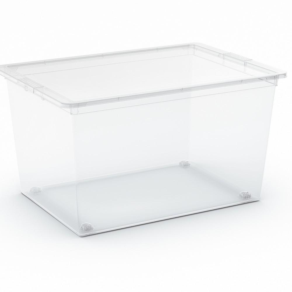 C-Box XL műanyag tárolódoboz transzparens 50L 38,5x55x30,5 cm