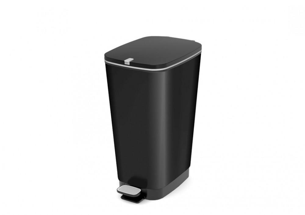 Chic műanyag pedálos szemetes 30L fekete