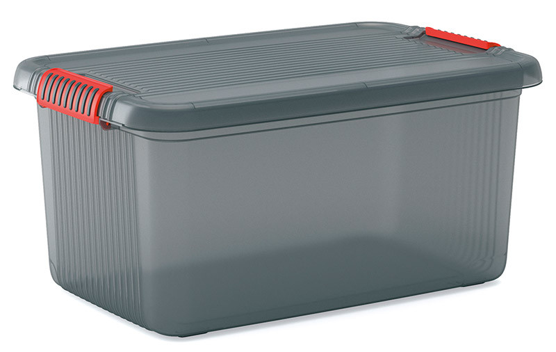 K Latch műanyag tárolódoboz 43L szürke 39x59x28 cm