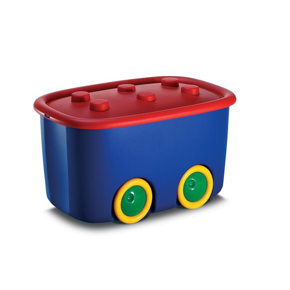 Funny box műanyag játéktároló kék/piros 46L 39x58x32 cm