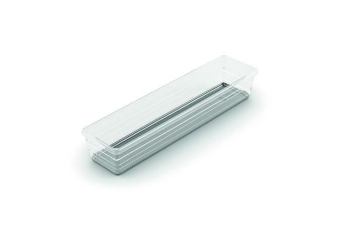 Sistemo 4 fiókrendező szürke 7,5x30x5 cm