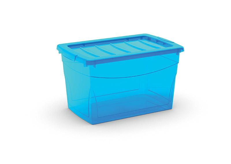 Omnibox M műanyag tárolódoboz 30L 30x47x27,5 cm  türkiz