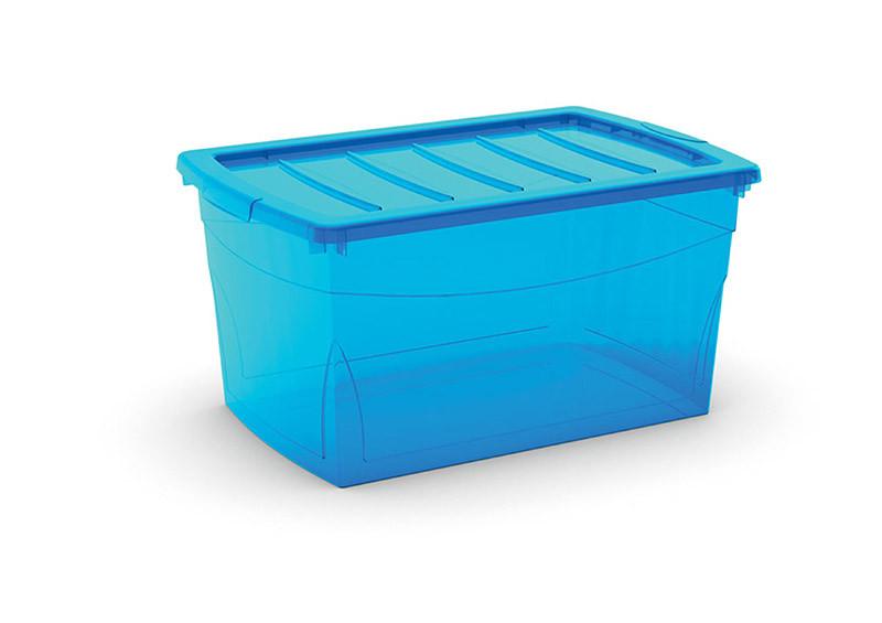 Omnibox L műanyag tárolódoboz 50L 39x58,5x30 cm türkiz