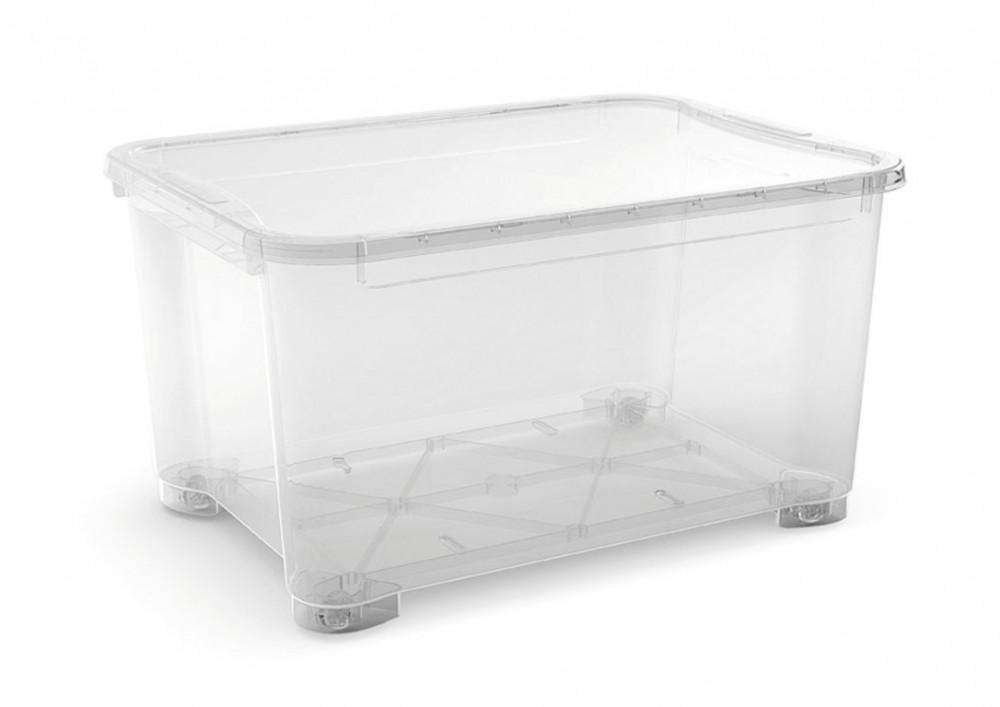 T Box XXL műanyag tárolódoboz transzparens 145L 58x79,5x44cm