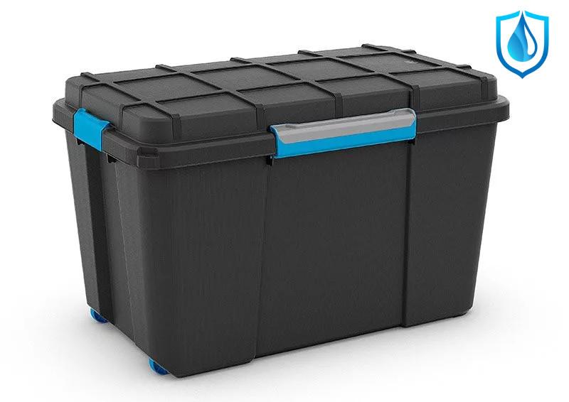 Scuba Box XL kerekes  láda fekete/kék 110L44,5x73,5x46 cm