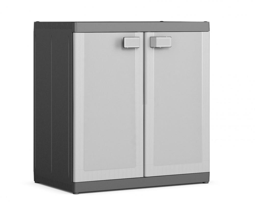 XL méretű 50 kg terhelhetőségű Logico alacsony műanyag szekrény