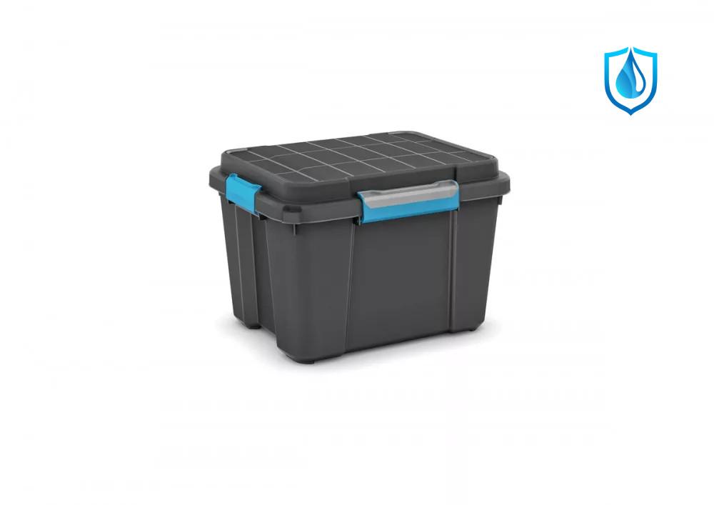Scuba Box M láda fekete/kék 45L 49,5x39x34 cm