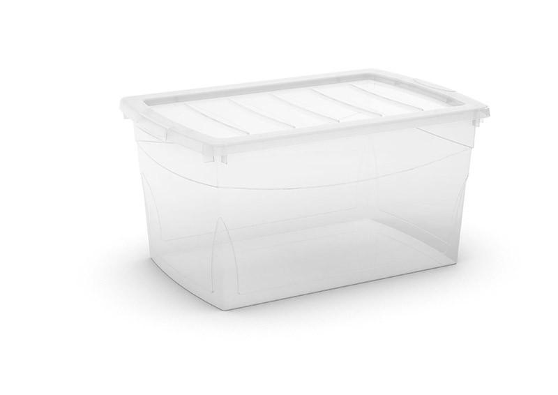 Omnibox L műanyag tárolódoboz 50L 58,5x39x30 cm átlátszó