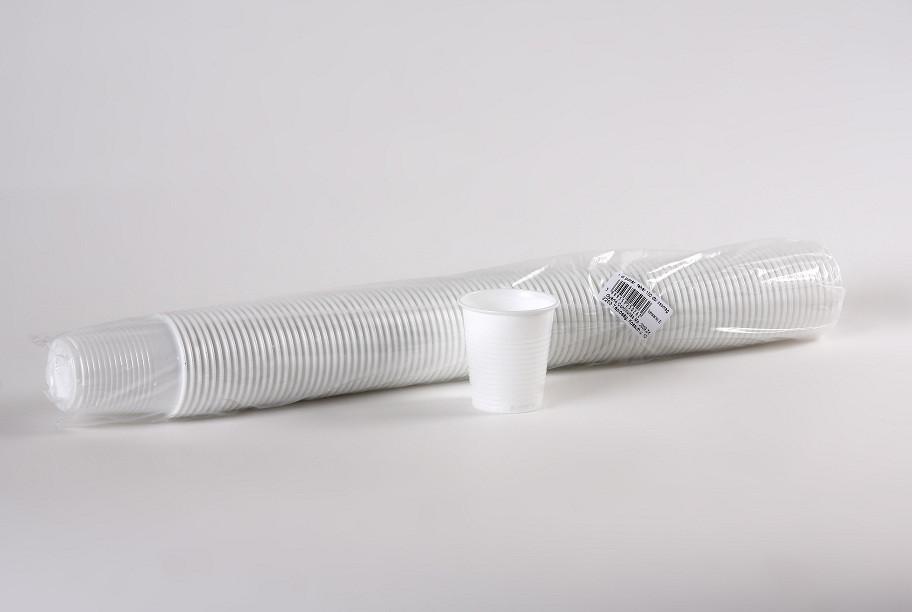 Party műanyag pohár 1dl 100db-os, fehér PP