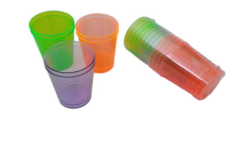 Party Color snapszos pohár műanyag 2-4cl 12db-os (talp nélküli) PS